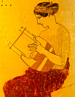 Lyre player