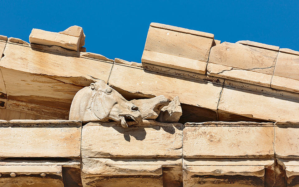 The Parthenon's eastern pediment