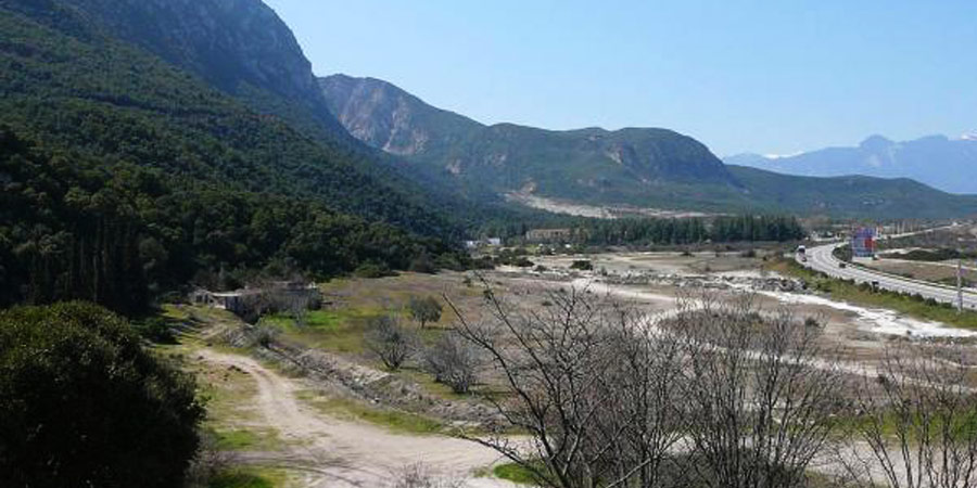 Thermopylae battlefield today