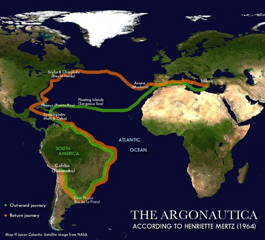 Argonauts route by Mertz