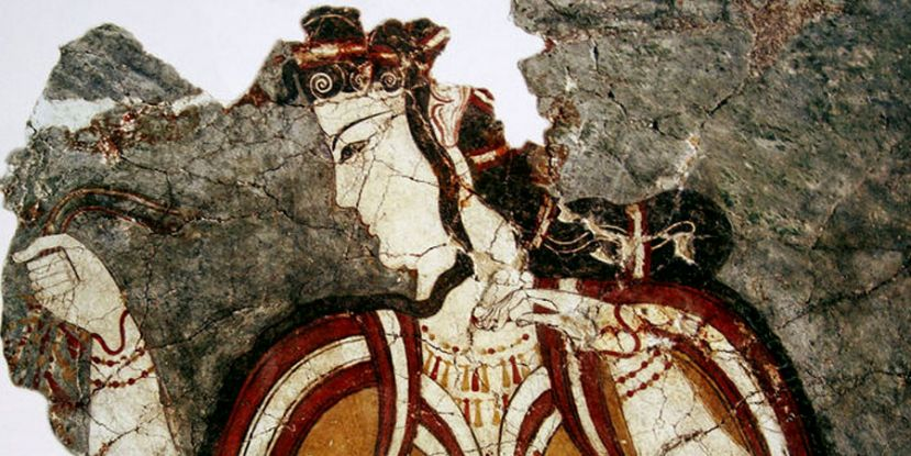 Minoan woman, fresco from Akrotiri, Santorini