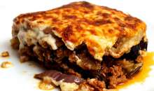 Classic Greek Moussaka with Aubergines (Eggplant)